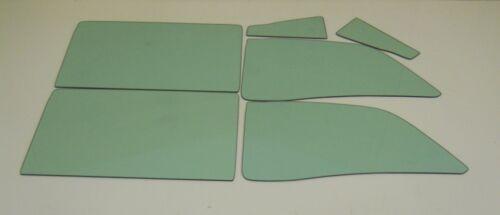 1959 Ford Skyliner Hardtop Retractable Glass Vent Door Quarter Set Green Tint