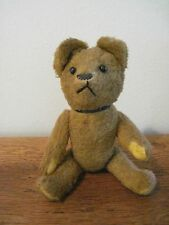 RARE ANTIQUE SHOE BUTTON EYES BEAR ARMS AND LEGS JOINTED