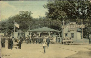 Troy-NY-Cancel-Rensselaer-Park-c1910-Postcard