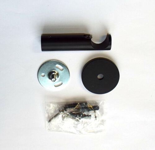 "schwarz 80 bis 600 cm Vorhangstange /"" Toronto/"" Metall 20 mm"
