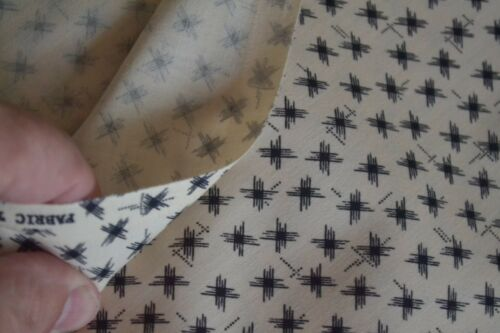 Vintage 1992 By 1//2 Yd Black on Cream Quilting Cotton Fabric Traditions B1161