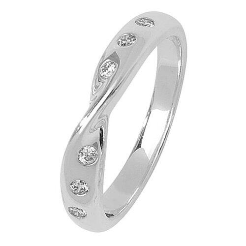 Hochzeit Ring Diamant 18 Karat whitegold 4mm Breiter Ring Schätzung Zertifikat