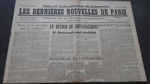 JOURNAUX-LES-DERNIERES-NOUVELLES-DE-PARIS-N-30-JUILLET-1940-ABE