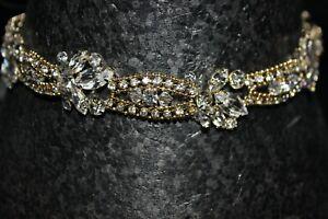 NEW Gold tone organza tie on headband or chocker for weddings, $230.