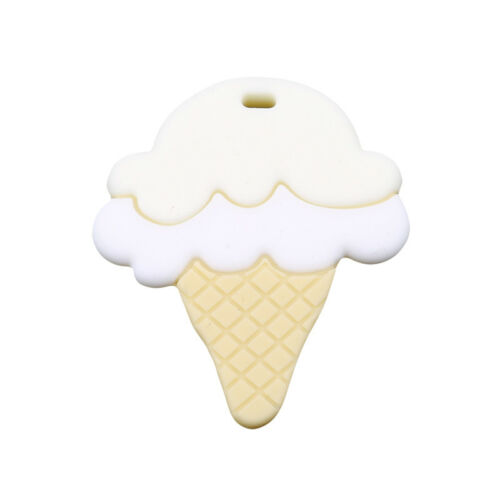 DIY Nursing Pendant Teething Necklace Silicone Ice Cream Baby Teether Toy 6A