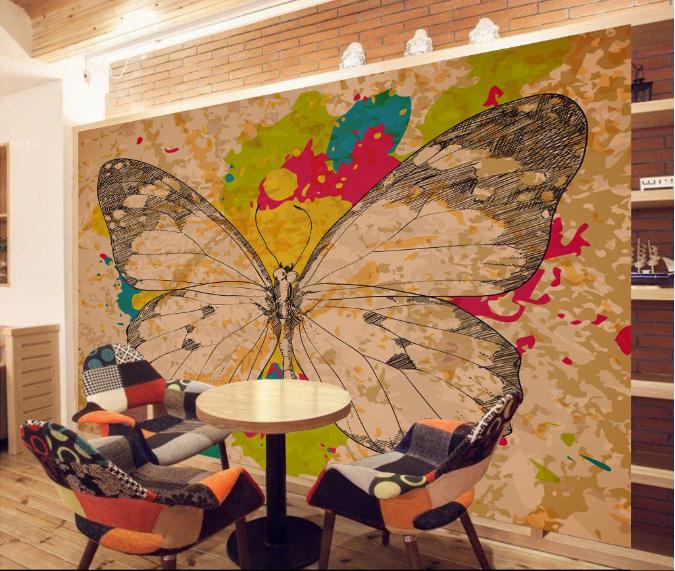 3D Großer Schmetterling 73 Tapete Wandgemälde Tapete Tapeten Bild Familie DE  | eine breite Palette von Produkten  | Große Klassifizierung  | Zu verkaufen