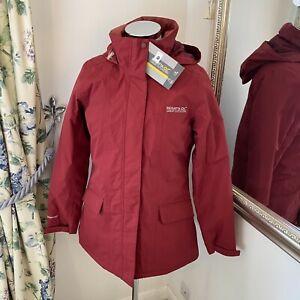Regatta UK 12 red windproof waterproof Blanchette walking country jacket J13