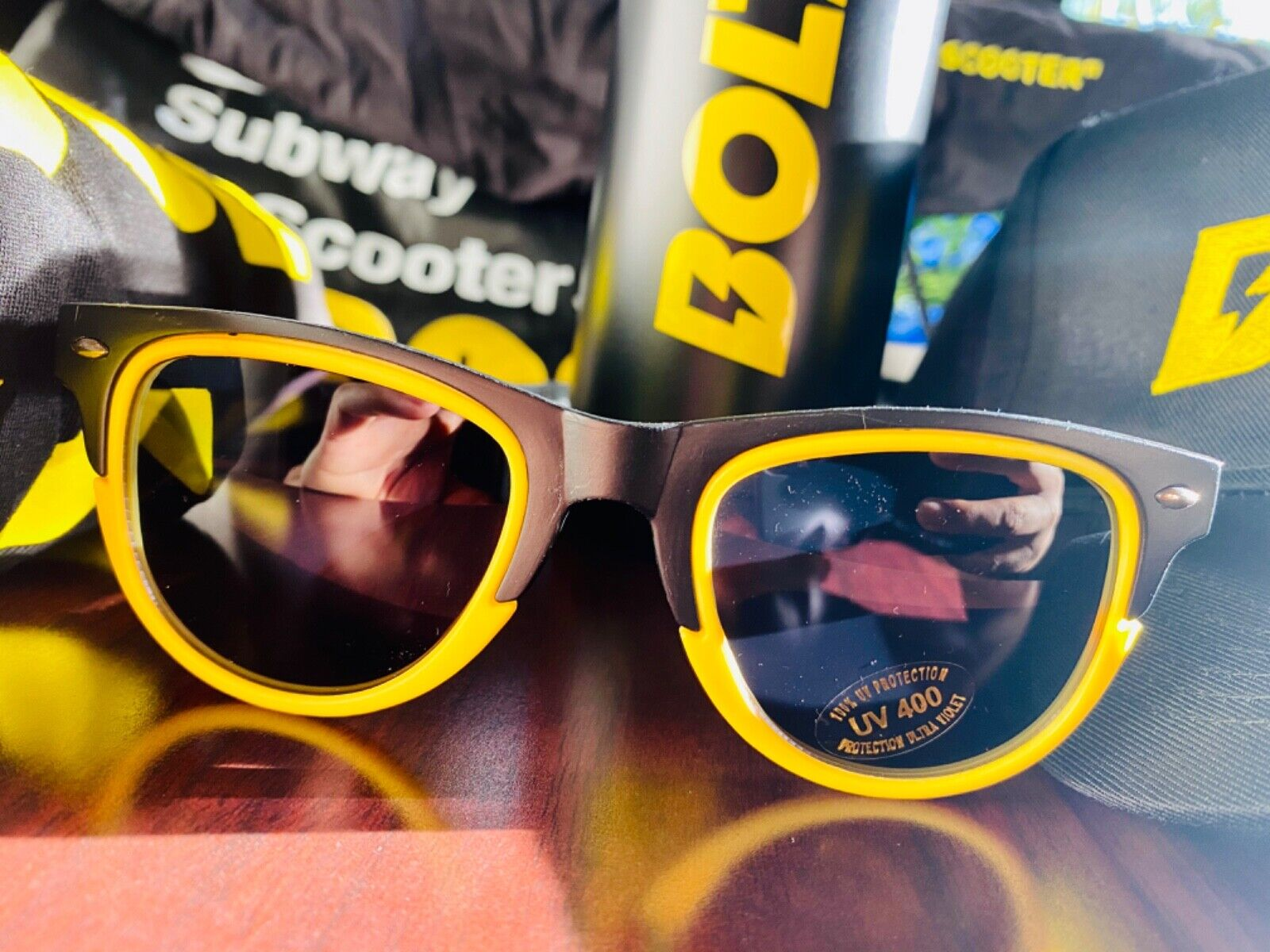 NEW ! / BOLT : Subway to Scooter : Limited Edition : Hat, Sunglasses, Water Bott