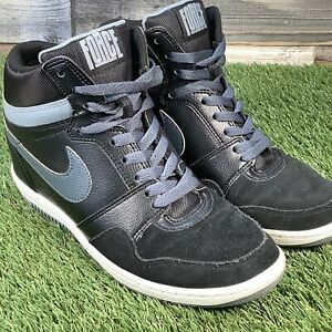 UK6-Nike-FORCE-SKY-HIGH-Hidden-Wedge-Hi-Top-Trainers-Air-1-Add-Extra-Height