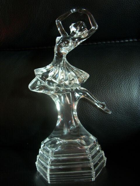 Art Deco Style Italian RCR Royal Crystal Rock Glass figurine Dancing Ballerina