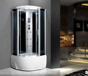 Cabina Idromassaggio 80x80 box doccia sauna bagno turco cromoterapia ...