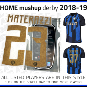 9b7c3fb56 Inter Milan 2018-19 Mushup NIKE 20th special edition name set ...