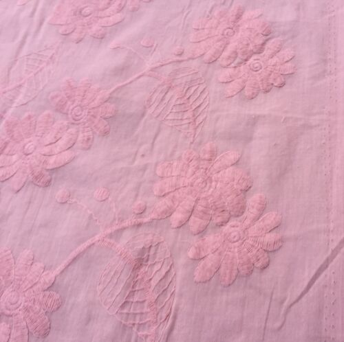 /'Pricilla' per metre Broderie Anglaise on cotton lawn dress fabric sewing