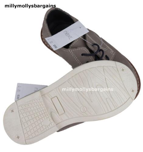 Nouveau bébé garçons Gris Cuir Next Chaussures 6 7 Infant RRP £ 28 £ 30