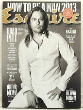 ESQUIRE MAGAZINE BRAD PITT MOST FAMOUS MEN IN THE WORLD OLIVIA MUNN VERY RA