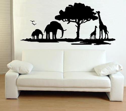 Wandtattoo Wandbild Wallsticker Afrika XXL 120X55cm Nr.39