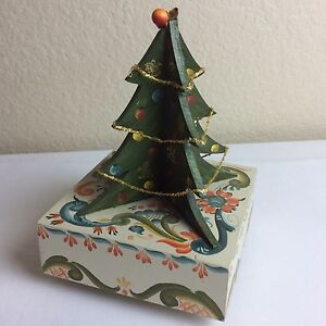 Details About Vintage Wood Christmas Tree Standing Music Box Figure Hand Painted O Tannebaum