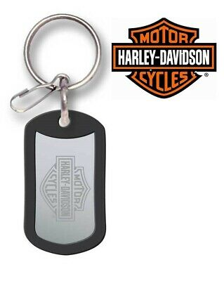 NEW Genuine Harley Davidson Metal Dog Tag Key Tag Key Chain Keychain Model 7