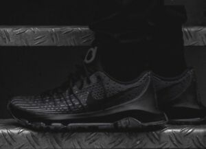 pretty nice cb70e 4be63 Image is loading Nike-KD-VIII-BLACKOUT-Triple-Black-Cool-Grey-