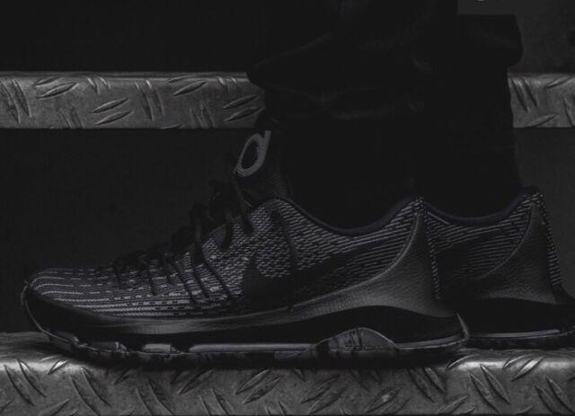 quality design 028e7 a6806 Nike KD VIII BLACKOUT Triple Black Cool Grey Dark Gray 7.5 All Star  749375-001