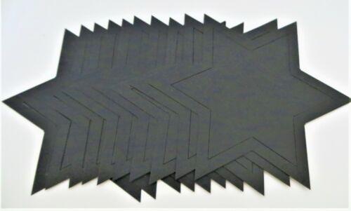 20 Stanz Sterne ca.15cm Transparentpapier  Weihnachten passepartout Sternset