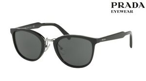 7a636e352 Image is loading PRADA-Sunglasses-SPR-22S-1AB-1A1-Black-52mm