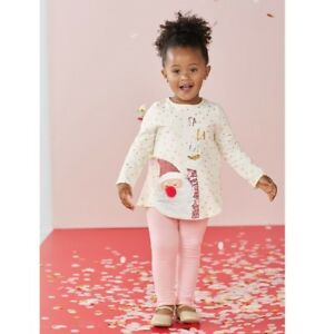 Outfits & Sets Ingenious Mud Pie H8 Christmas Baby Girl Pink Sequin Santa Tunic & Leggings 11010004 In Short Supply