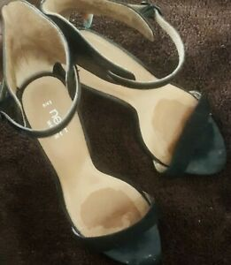 Black Sandals Size 43 Wide Fit Used