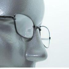 Narrow Rock Star Black Metal Wire Frame Reading Glasses Spring Hinge +1.25 Lens