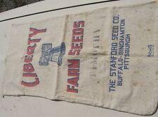 Antique Feed Sack Liberty Bell Farm Seeds Sanford Buffalo Pittsburgh