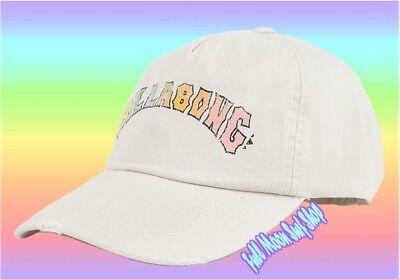 New BILLABONG Retro Logo Tan Dad Hat Cap