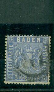 Baden-Wertziffer-Nr-10-gestempelt-Nr-177