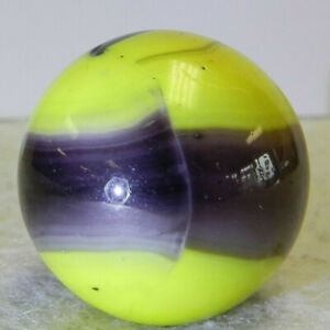 #10979m Vintage Marble King Rainbow Bumblebee Shooter Marble .99 Inches *Mint*