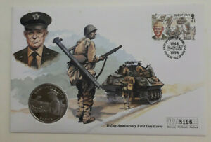 Isle-of-Man-Coin-D-Day-First-Day-Cover-Gen-Eisenhower-1-Crown