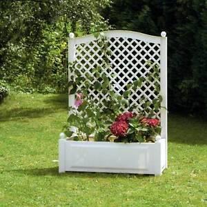 pflanzkasten mit spalier blumenkasten pergolen blumentopf khw pflanzgef neu ebay. Black Bedroom Furniture Sets. Home Design Ideas