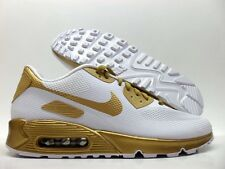 NIKE AIR MAX 90 HYPERFUSE PREMIUM ID WHITE/GOLD SIZE MEN'S 9.5 [822560-997]
