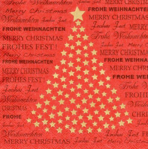 4 Motivservietten Servietten Napkins Tovaglioli Frohe Weihnachten 069