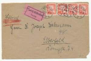 D.Reich Nr. 373 MEF (4) Eilbotenbrief BERLIN 5.12.25 n. ELBERFELD (55949)