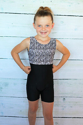 New Leotard Size XS 6-7 SC 7-8  Long Sleeve Gymnastics Dance Costume Foil IC MC