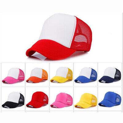 IZHH Unisex Mesh Trucker Baseball Cap Hat Tie-Dyed Sun Hat Adjustable Hip Hop Hat
