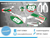 Honda Cr85/crf150 Graphics Kit With Custom Numbers Etc - Castrol Inspired