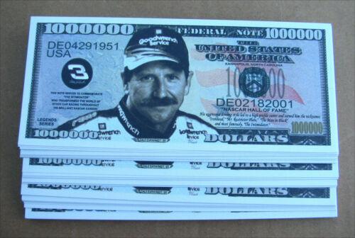 LOT OF 10 Dale Earnhardt Sr MONEY FAKE WHOLESALE MILLION DOLLAR BILLS  FREE SHIP