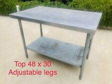 Stainless Steel Commercial Kitchen Work Food Prep Table 48 X 30 Pickup
