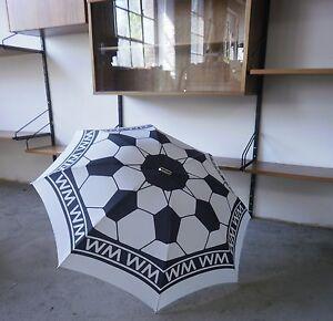 Streng Etui Knirps Fußball Weltmeister Regenschirm True Vintage Soccer Wm Umbrella 90s Regenschirme Kleidung & Accessoires