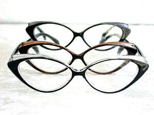 CAT-EYE-70-039-er-Jahre-Lesebrille-Lesehilfe-NEU-schwarz-braun-grau-transparent-6049