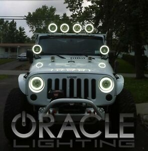 Halo Lights For Jeep Wrangler >> Details About Oracle 7079 001 2007 2017 Jeep Wrangler Jk White Headlight Halo Light Assembly