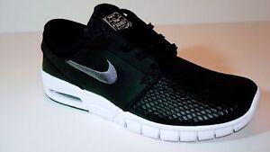 832873db7e Details about Nike SB Men's Stefan Janoski MAX L Skateboard Shoe Black/Dark  Grey White New