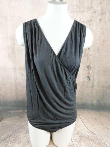 20 18 Senza Sz Black Womens maniche Unitard Nwt Button catsuit B33 Cacique zAqf78