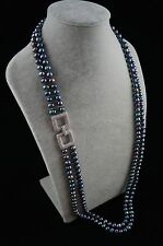 36/37 inches Double-Strand Peacock Pearl Necklace with Ornament
