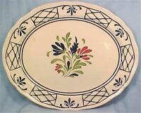 Johnson Brothers Provincial Platter Oval Serving Meat Vintage Blue Red Flowers
